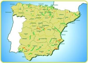 Mapa de vías verdes