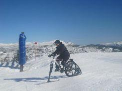 KtraK en Leitariegos bici de nieve