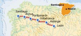 Mapa Camino de Santiago León