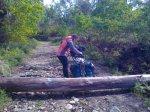 obstaculo en el camino de santiago para la bicicleta