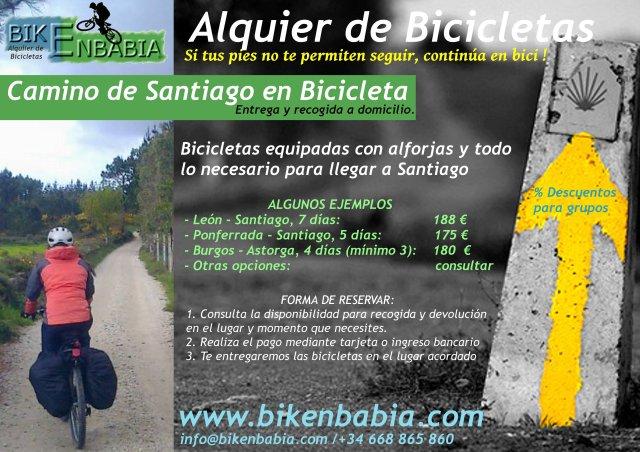 Camino de Santiago en bicicleta Puente de octubre