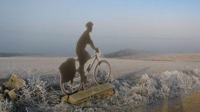 silueta bici